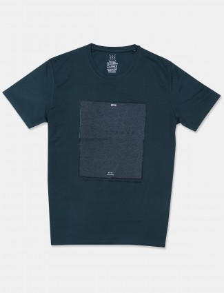 Fritzberg green shade solid style casual t-shirt