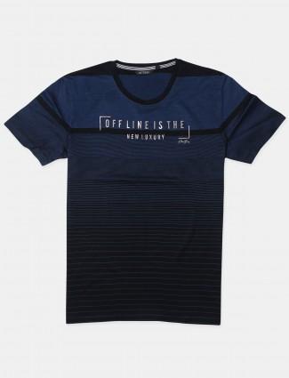 Fritzberg navy printed casual wear t-shirt