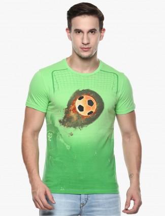 Fritzberg parrot green printed t-shirt
