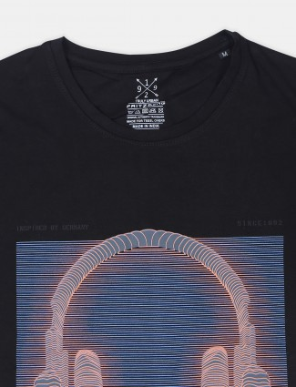 Fritzberg printed black casual cotton t-shirt
