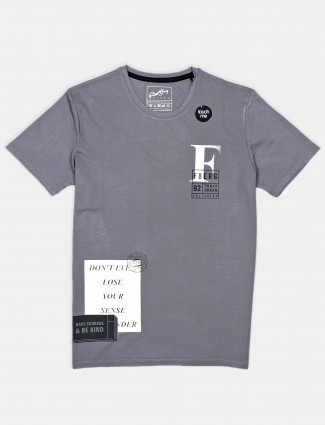 Fritzberg printed grey cotton t-shirt for mans