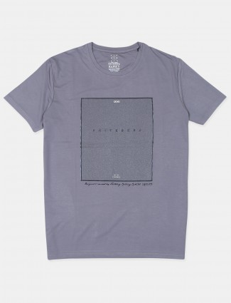 Fritzberg printed style grey cotton t-shirt for mens