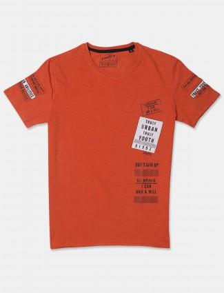 Fritzberg rust orange casual cotton t-shirt