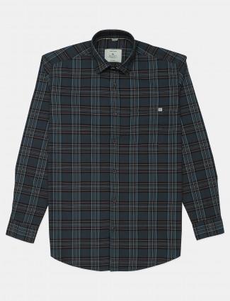 Gainti grey cotton casual wear shirt for mens