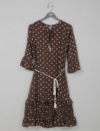 Georgette brown amazing top for casual wear
