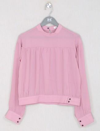 Georgette casual wear top in pink