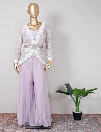 Georgette voilet wedding wear palazzo suit