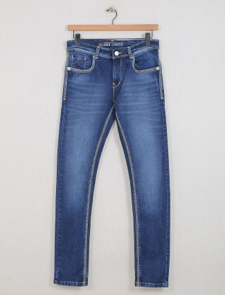 Gesture casual washed blue jeans