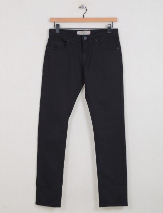 Gesture solid black casual wear casual jeans