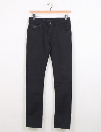 Gesture solid black slim fit jeans