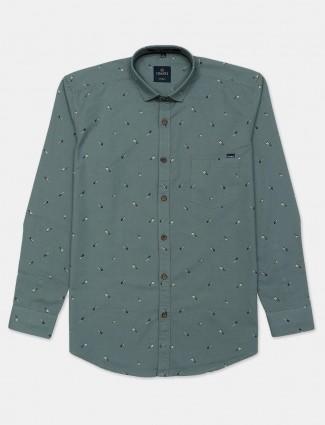 Gianti cotton printed grey mens shirt