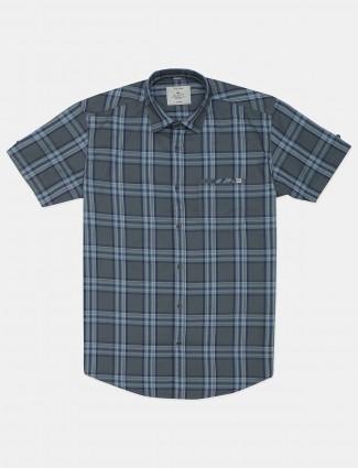 Gianti green casual checks cotton shirt