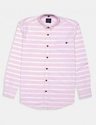 Gianti pink stripe casual shirt