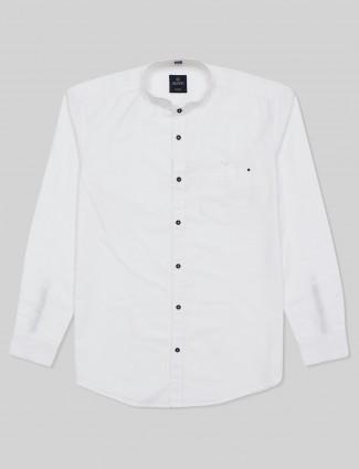 Gianti solid wihite cotton casual shirt