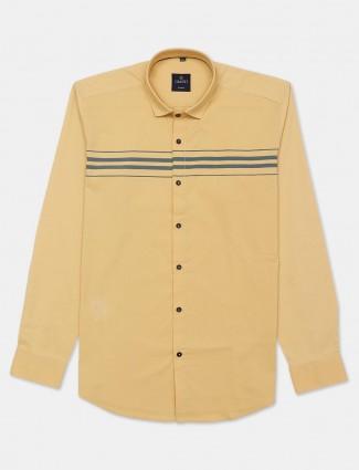 Gianti yellow stripe cotton casual shirt