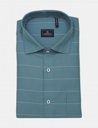 Ginneti blue stripe casual cotton shirt