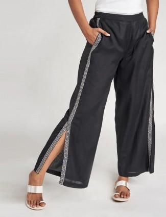 Global Desi black casual wear palazzo pant