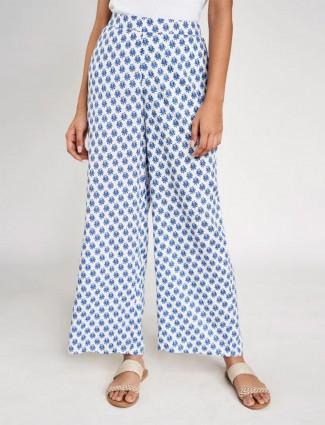 Global Desi printed blue palazzo pant