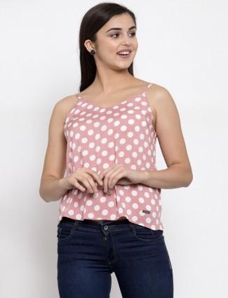 Global Republic latest pink georgette casual wear top for women