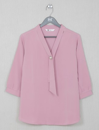 Gorgeous pink georgette casual wear top