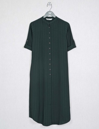 Green cotton fabric casual wear kurti