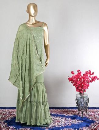 Green cotton wedding collection salwar kameez