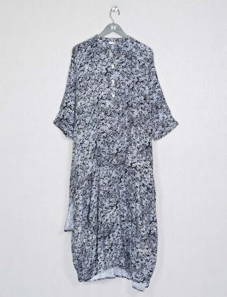 Grey cotton fabric casual wear kurti