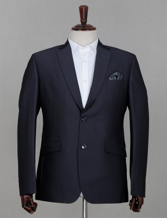Grey hue terry rayon fabric solid mens coat suit