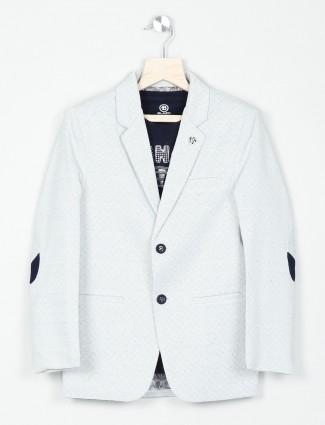 Grey parinted occsaion terry rayon blazer