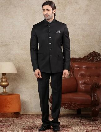 Grey terry rayon mens jodhpuri suit for parties