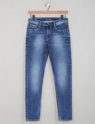 GS78 blue washed denim jeans for mens
