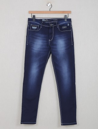 GS78 casual denim jeans in navy blue