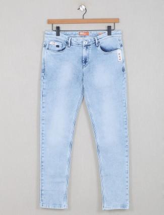 GS78 washed blue denim jeans for mens