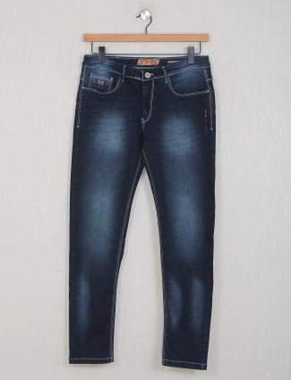 GS78 washed navy denim slim fit jeans