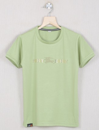 Gusto presented olive green hue t-shirt for little boys