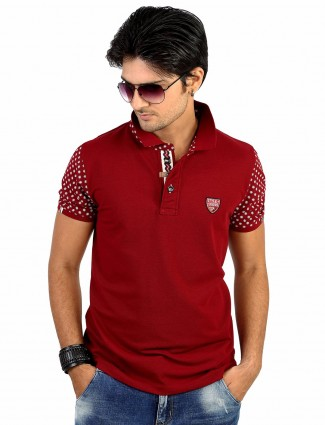 Hats off cotton plain red t-shirt