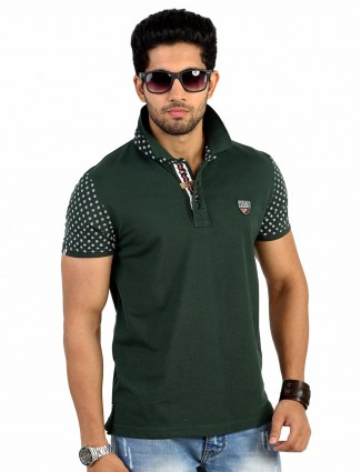 Hats off solid green t-shirt