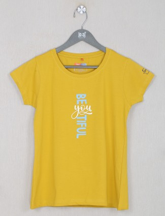 Honey yellow cotton casual wear top