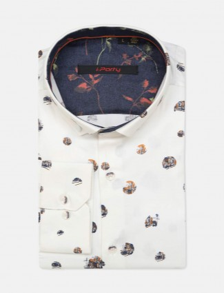 I Party white cotton buttoned down collar shirt