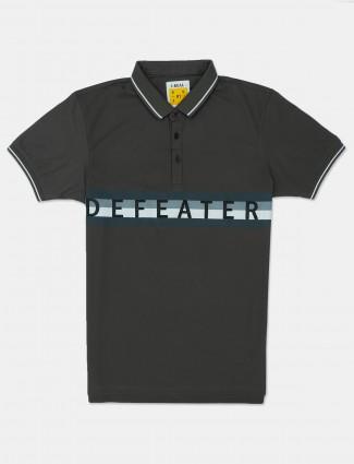I-Real olive mens printed polo t-shirt