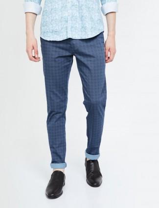 Indian Terrain blue color checks trouser