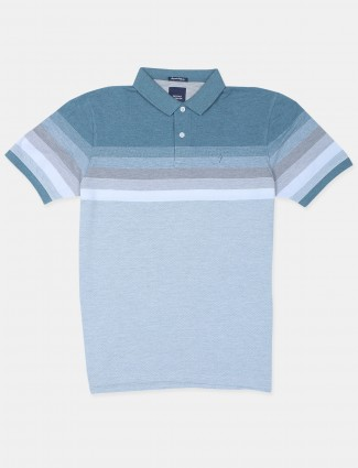 Indian terrain blue shaded t-shirt for mens