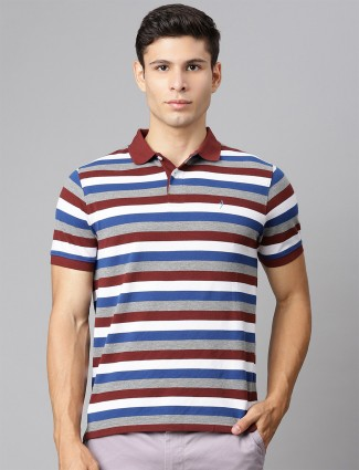 Indian Terrain cotton t-shirt in maroon and white