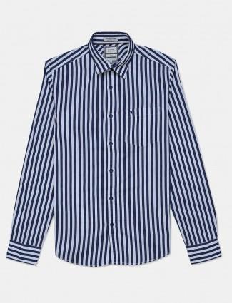 Indian Terrain navy stripe casual shirt