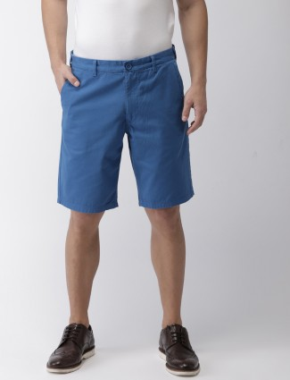Indian Terrain presented blue solid shorts