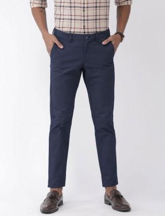 Indian Terrain printed navy mens trouser