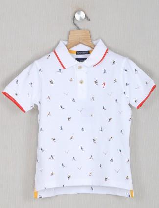 Indian Terrain printed style white shade t-shirt