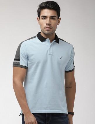 Indian Terrain sky blue solid t-shirt
