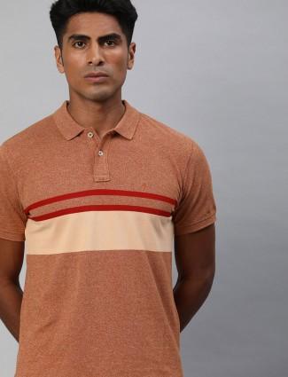 Indian Terrain solid peach t-shirt