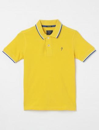 Indian Terrain solid yellow t-shirt